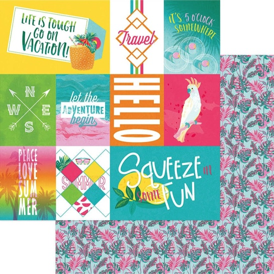 Summer 12x12 Double Sided Scrapbooking Paper