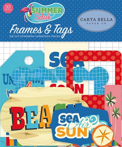 Summer Splash Frames and Tags Die Cut Scrapbooking Shapes