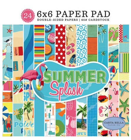 Pool Fun Scrapbooking Pack - 24 sheets of 6x6 Paper