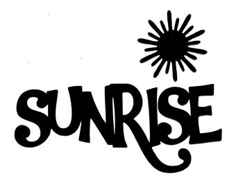 Sunrise Scrapbooking Laser Cut Title with Sun