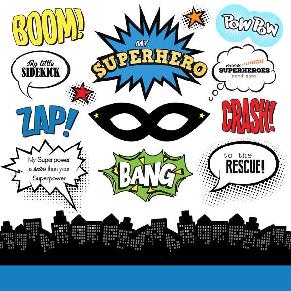 Super Hero 12x12 Scrapbooking Stickers