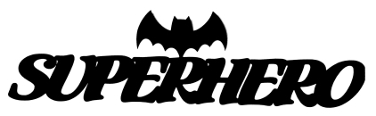 Superhero Scrapbooking Laser Cut Title with Bat Shape