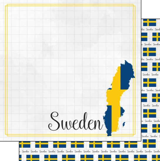 Sweden 12x12 Double Sided Scrapbooking Paper