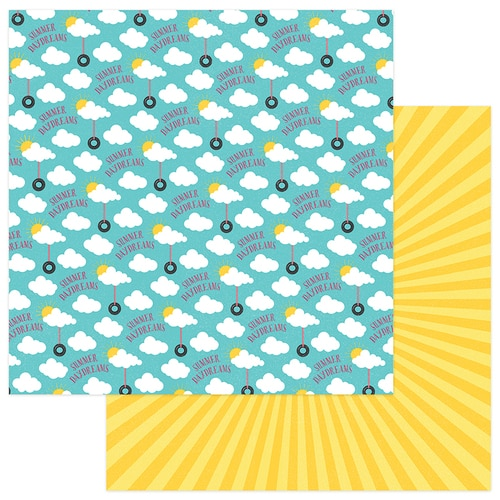 Swinging in the Clouds 12x12 Double Sided Scrapbooking Paper