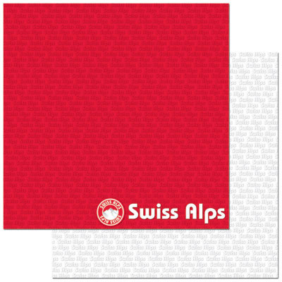 Swiss Alps 12x12 Double Sided Scrapbooking Paper