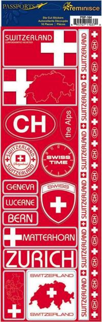 Switzerland Cardstock Scrapbooking Stickers and Borders