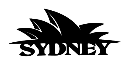 Sydney Scrapbooking Laser Cut Title with Opera House