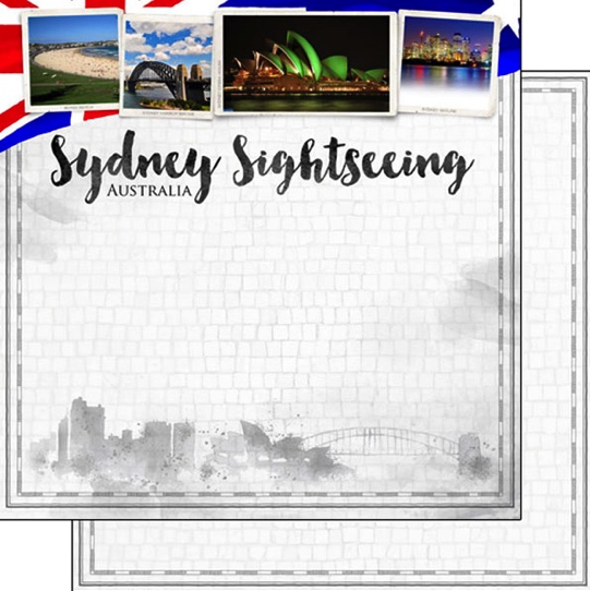 Sydney Sightseeing 12x12 Double Sided Scrapbooking Paper