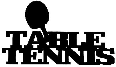 Table Tennis Scrapbooking Laser Cut Title with Bat