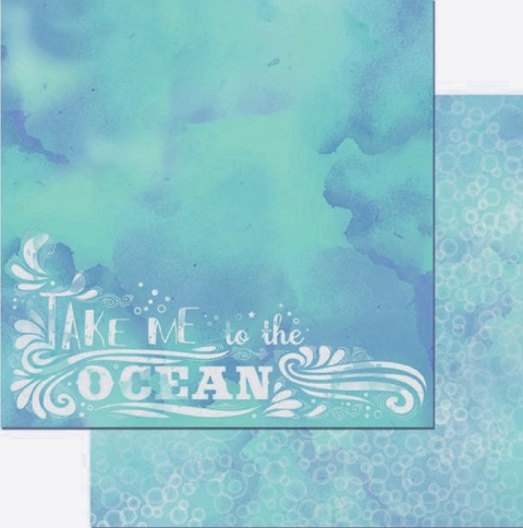 Take Me to the Ocean Double Sided 12x12 Scrapbooking Paper