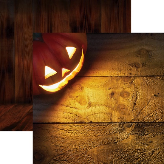 Halloween Pumpkin Double Sided 12x12 Scrapbooking Paper