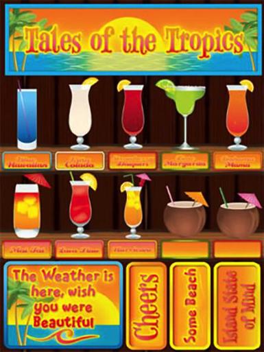 Tales of the Tropics 3D Scrapbooking Stickers