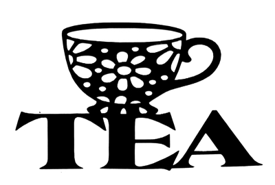 Tea Scrapbooking Laser Cut Title with tea cup