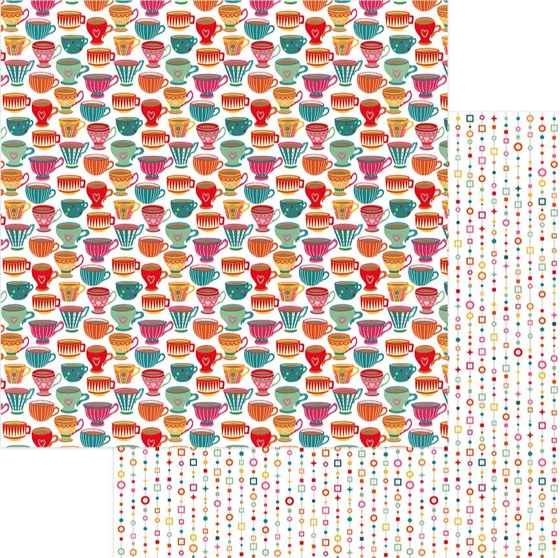 Tea for Two 12x12 Double Sided Scrapbooking Paper