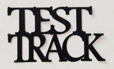 Test Track Scrapbooking Laser Cut Title