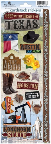 Texas Cardstock Scrapbooking Stickers