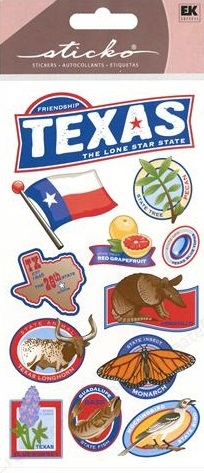 Texas Scrapbooking Stickers