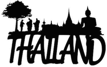 Thailand Scrapbooking Laser Cut Title with Skyline