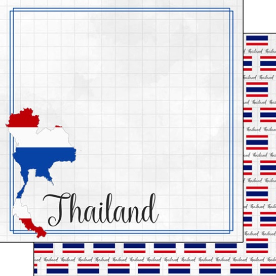 Thailand 12x12 Double Sided Scrapbooking Paper