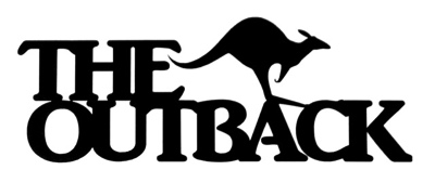 The Outback Scrapbooking Laser Cut Title with Kangaroo
