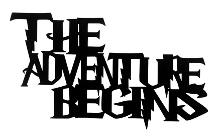 The Adventure Begins Scrapbooking Laser Cut Title