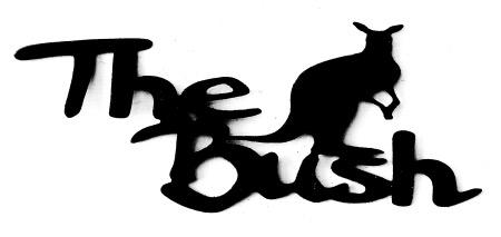 The Bush Scrapbooking Laser Cut Title with Kangaroo