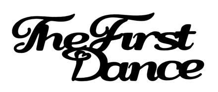The First Dance Scrapbooking Laser Cut Title