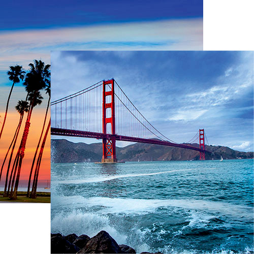 The Golden Gate Double Sided 12x12 Scrapbooking Paper
