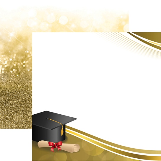 The Graduate Dream Big Double Sided 12x12 Scrapbooking Paper