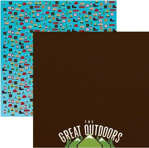 The Great Outdoors 12x12 Double Sided Scrapbooking Paper