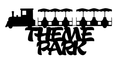 Theme Park Scrapbooking Laser Cut Title with trolley