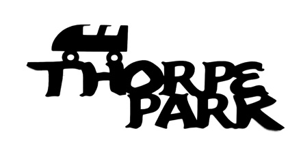 Thorpe Park Scrapbooking Laser Cut Title with Roller Coaster Carriage