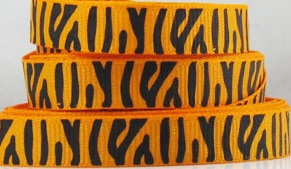 Tiger Print Scrapbooking Ribbon