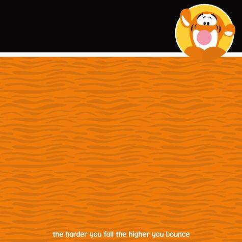 Tigger 12x12 Scrapbooking Paper