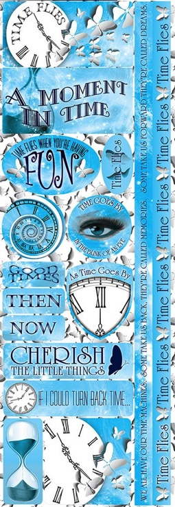 Time Flies Cardstock Scrapbooking Stickers and Borders