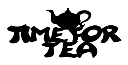 Time For Tea Scrapbooking Laser Cut Title with Teapot