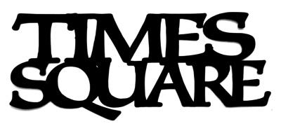 Times Square Scrapbooking Laser Cut Title
