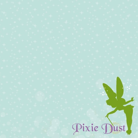 Tinker Bell Pixie Dust 12x12 Scrapbooking Paper