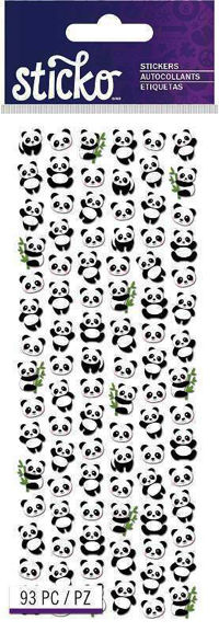 Tiny Panda Scrapbooking Stickers