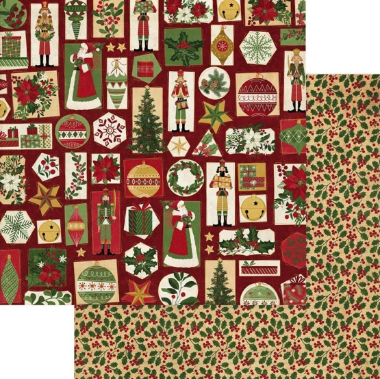 Christmas Tis the Season 12x12 Double Sided Scrapbooking Paper