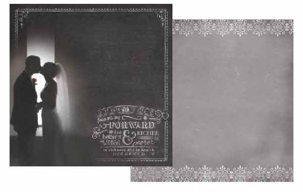 To Have and To Hold 12x12 Double Sided Scrapbooking Paper
