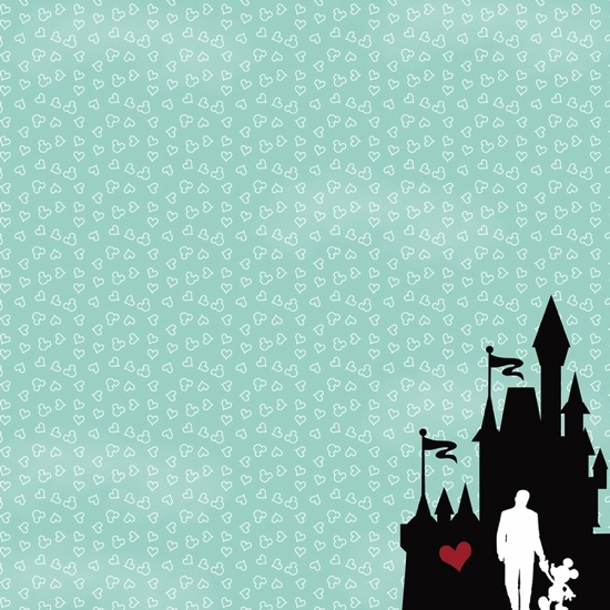 Walt Disney and Mickey 12x12 Scrapbooking Paper