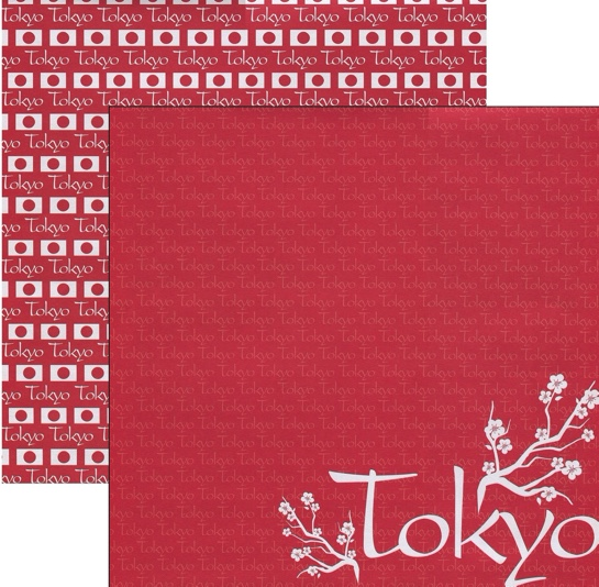 Tokyo 12x12 Double Sided Scrapbooking Paper