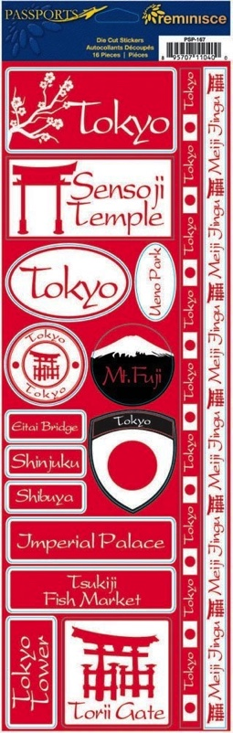 Tokyo Cardstock Scrapbooking Stickers and Borders