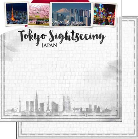 Tokyo Sightseeing 12x12 Double Sided Scrapbooking Paper