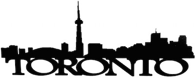 Toronto Scrapbooking Laser Cut Title with Skyline