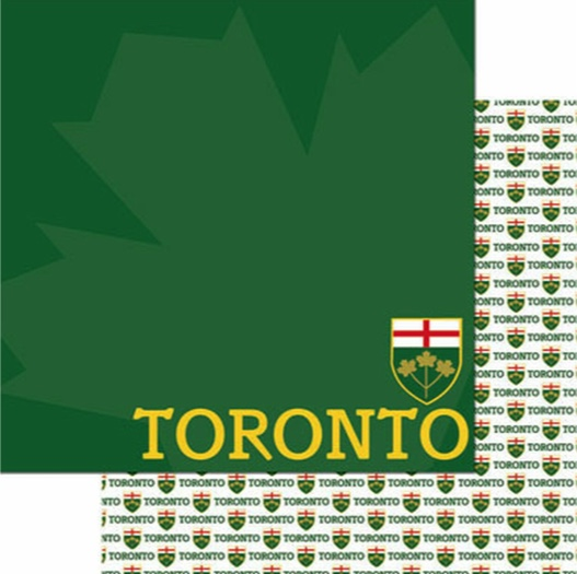 Toronto 12x12 Double Sided Scrapbooking Paper