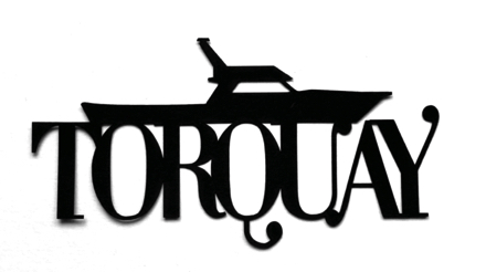 Torquay Scrapbooking Laser Cut Title with boat