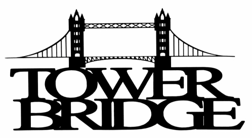 Tower Bridge Scrapbooking Laser Cut Title with Bridge
