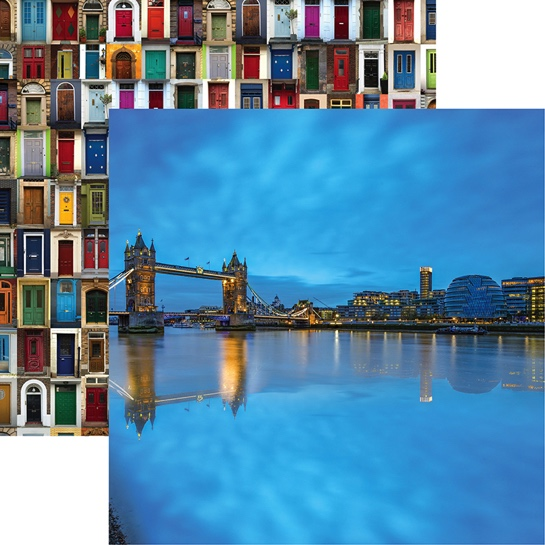 Tower Bridge 12x12 Double Sided Scrapbooking Paper